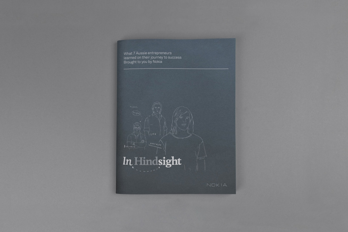 The front cover of the Nokia InHindsight book.