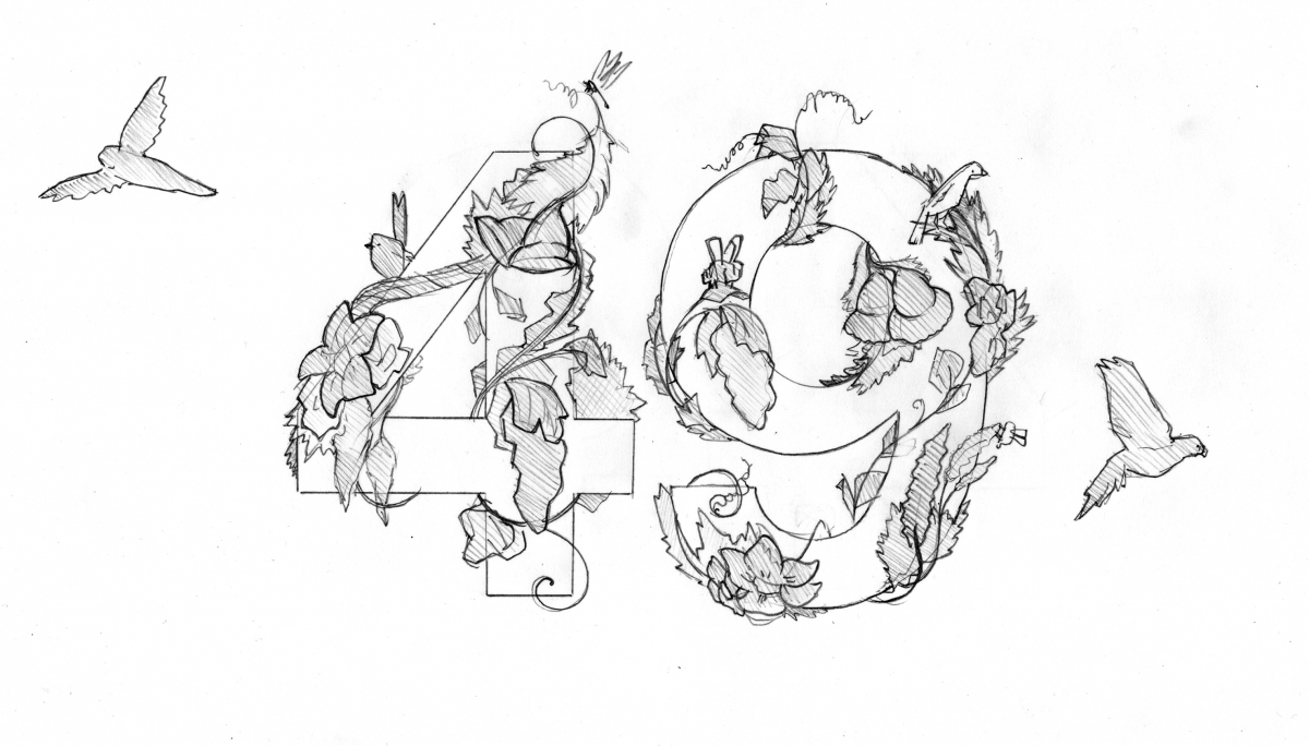 3. Indication of the mass of the illustration, in pencil.
