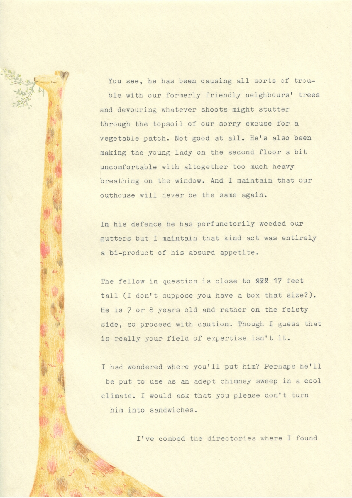 Letter to Giraffe Removals
