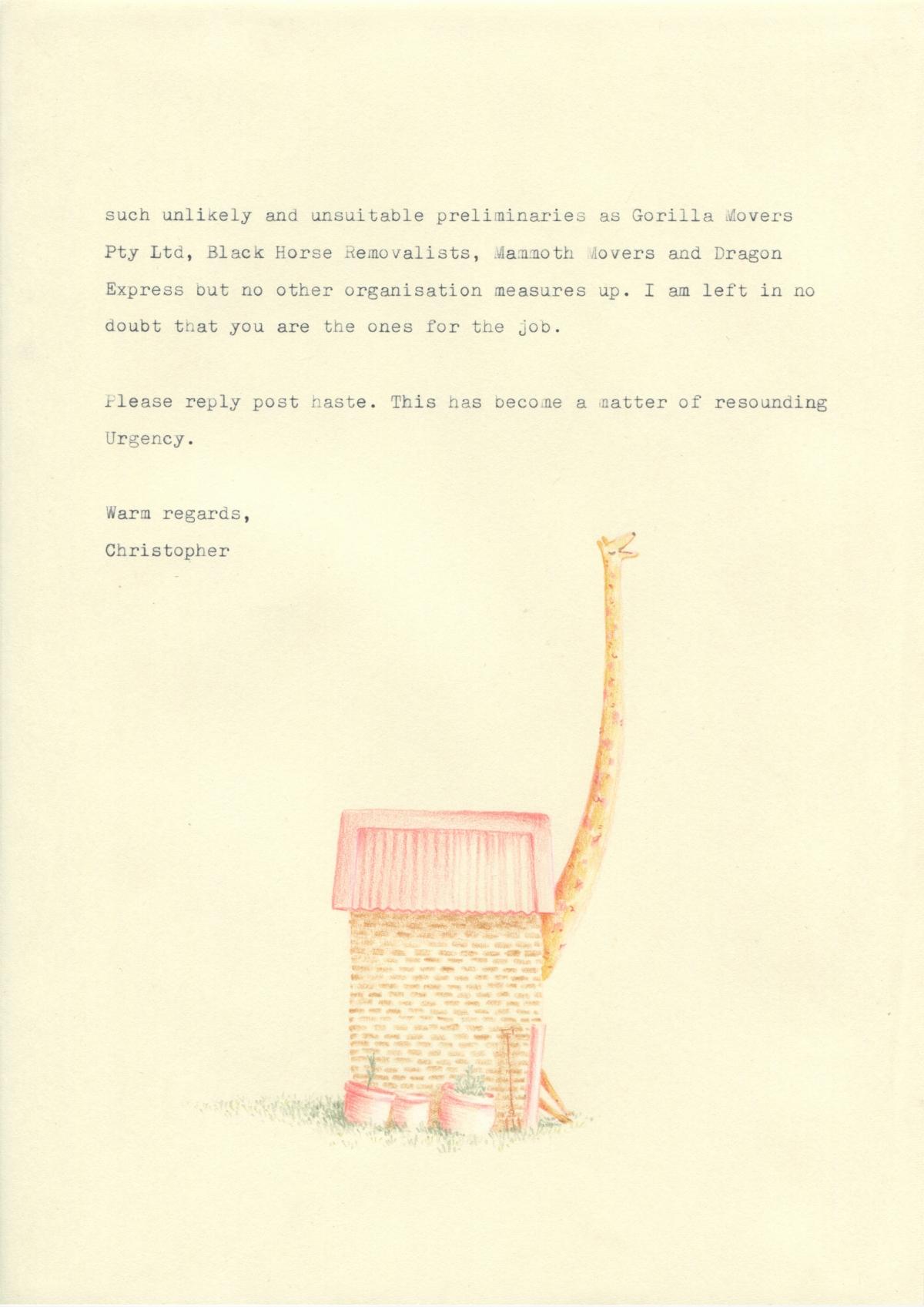 Letter to Giraffe Removals