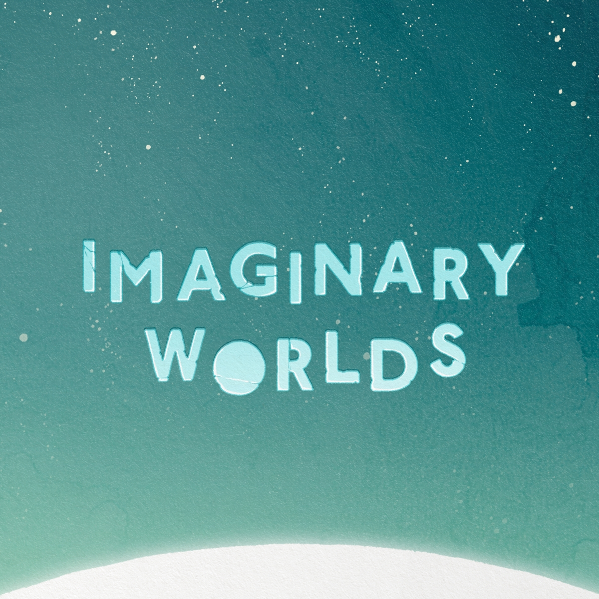 Illustrated Imaginary Worlds typography.