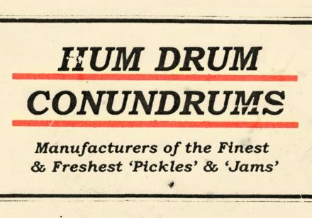 Hum Drum Conundrums
